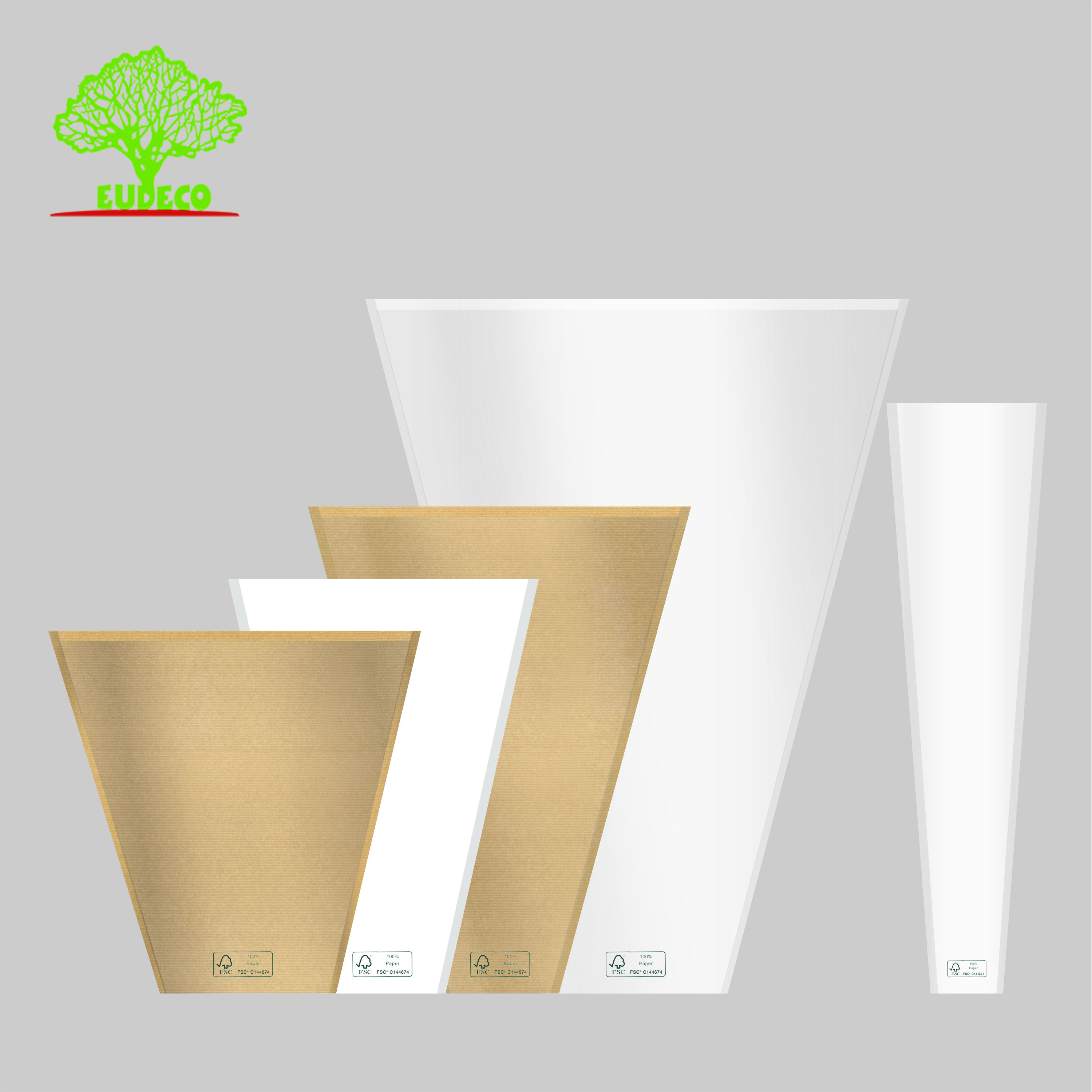 100% home compostable custom printed own logo green plant pot bag flower sleeves