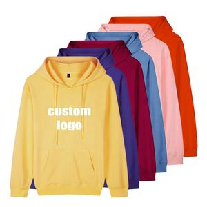 Custom Printed Oversize Plain Sweatshirt Pullover printing logo Fleece men's winter Hoodies