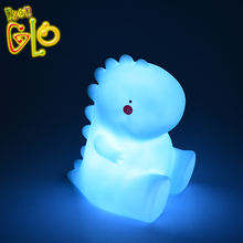 Novelty Flashing Colorful Dinosaur Led Pvc Night Light For Baby Room
