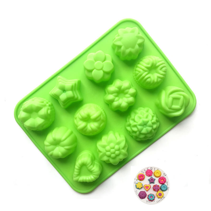 ES021 Various Flower Shapes 100% Food Grade 3d Decorating Baking Cakes Tools Mold Silicone