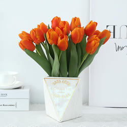 Artificial Latex Tulips Flowers Real Touch Tulips for Home Wedding Party Decor