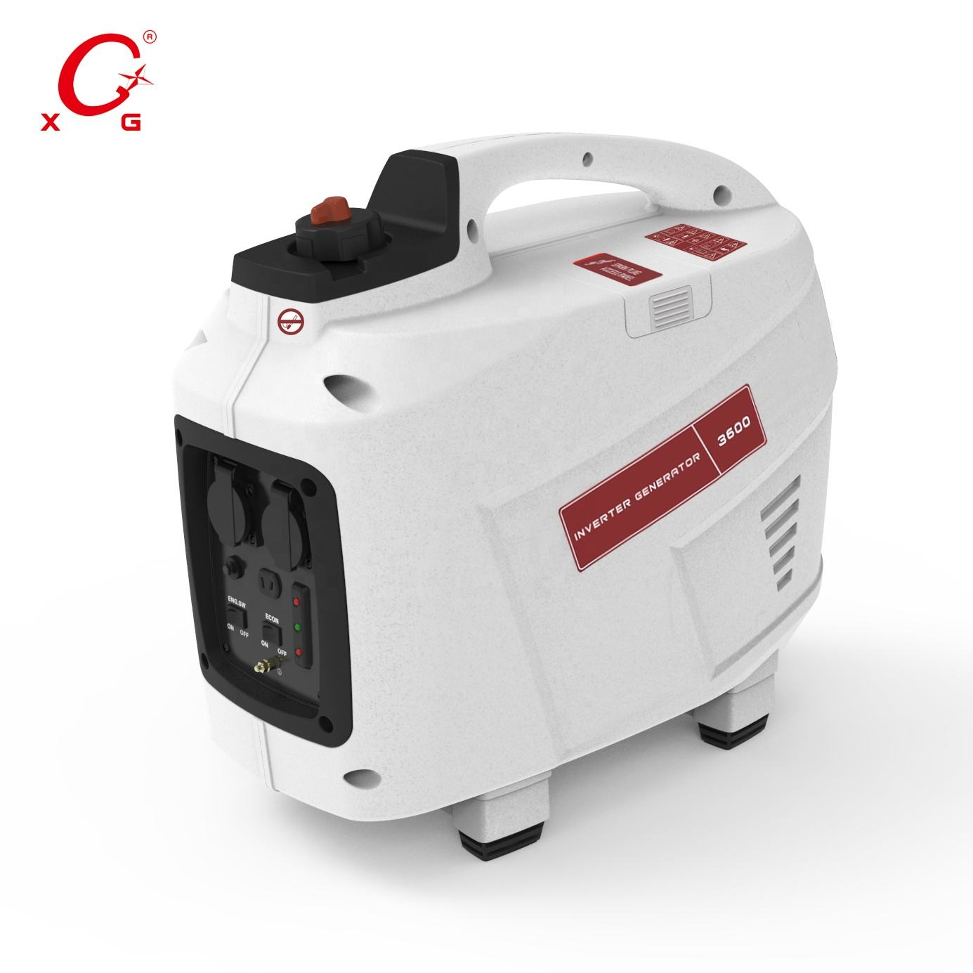 Natürliche Gas Powered 4,0 kVA Benzin Generator Digital Inverter-Generator 3600W Tragbare Camp Key Start Mini Generator