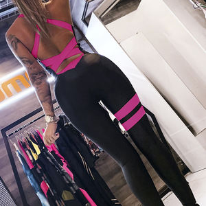 2020 New Jumpsuit Women Elastic Hight Casual Fitness Sporty Rompers Sleeveless Zipper Activewear Skinny Summer Outfit