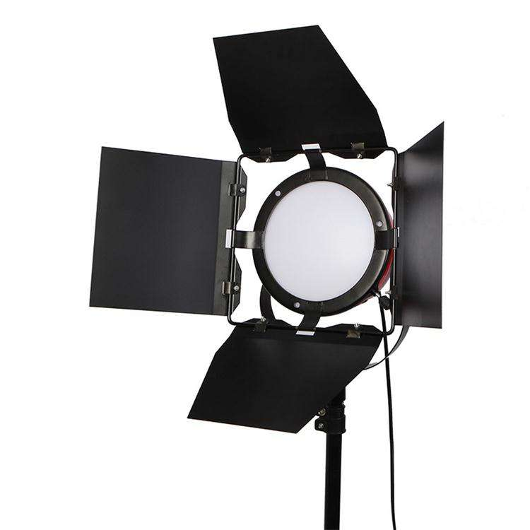 75ワットLED RedヘッドLight Light Photo StudioとBarndoor For Filming Studio Continuous Lighting Studio