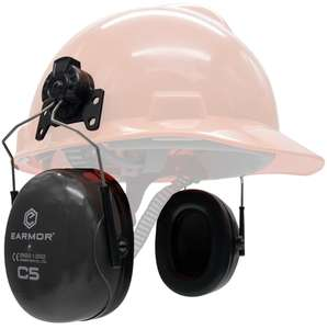 OPSMEN EARMOR C5H Maxdefense earmuffs NRR24 Cap helmet attached Double-Shell Structure Labor Factory Hearing Protector earmuff
