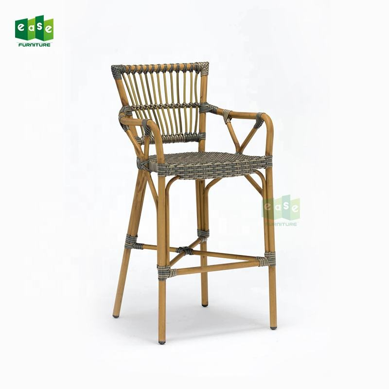 Counter Stool Bar Stools Bar Chairs Outdoor Wicker Rattan High Bar Chair With Backs Footrest