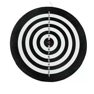 Dart Placa de juego de dardos con 6 Dardos y de doble cara flocado tablero de dardos (18 pulgadas)