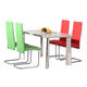 Free Sample Wall Mounted Antique Extendable Luxury Marble Top Dining Table With Stainless Steel Legs 4 Chairs