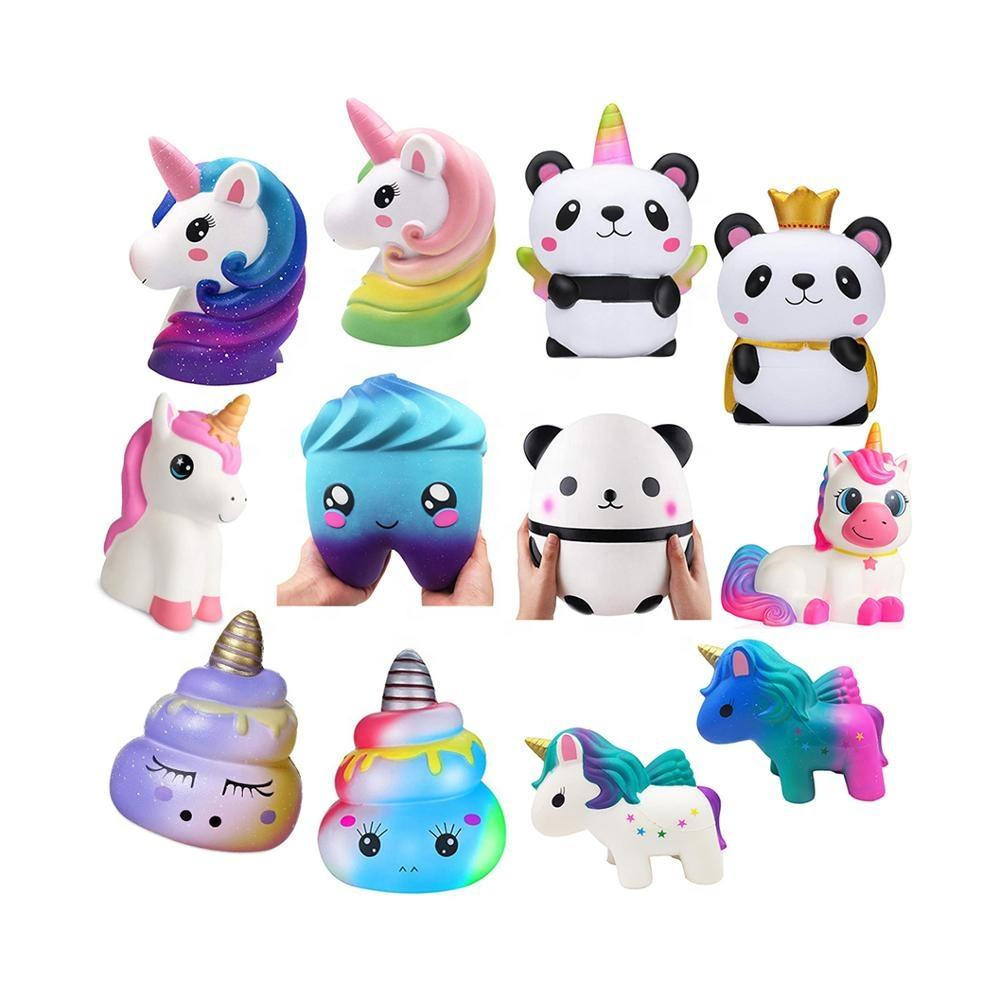 New Wholesale Jumbo Squishy Scented Cheep Soft Slow Rising Giant Unicorn Squishies Kids Toys