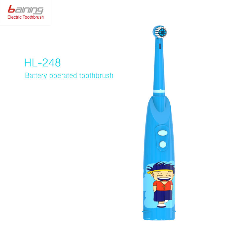 HONGLONG HL248 Cartoon Kids Electric Toothbrush Set OEM IPX5 Soft Bristles Rotating Electric Tooth Brush