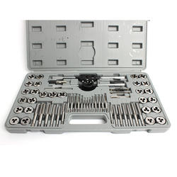 60pcs Tap and Die Set for Steel Aluminium Copper Thread Cutting  Alloy Steel Fully Ground