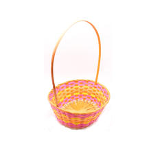 New Hot Sale woven holiday easter basket bamboo gift basket flowers and christmas empty gift hamper basket with handle