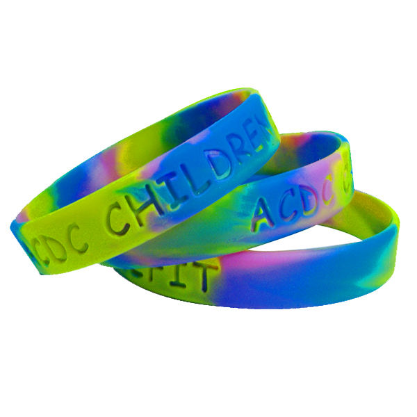 Custom Patroon Rubber Band Verstelbare Siliconen Armband In Bulk