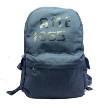 OEM 20L low MOQ custom logo waterproof nylon material school Laptop backpack with reflective string