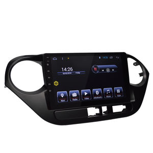For HYUNDAI I10 Left factory outlet Android car DVD player 9 inch touch screen with GPS navigation multimedia system 2 din play