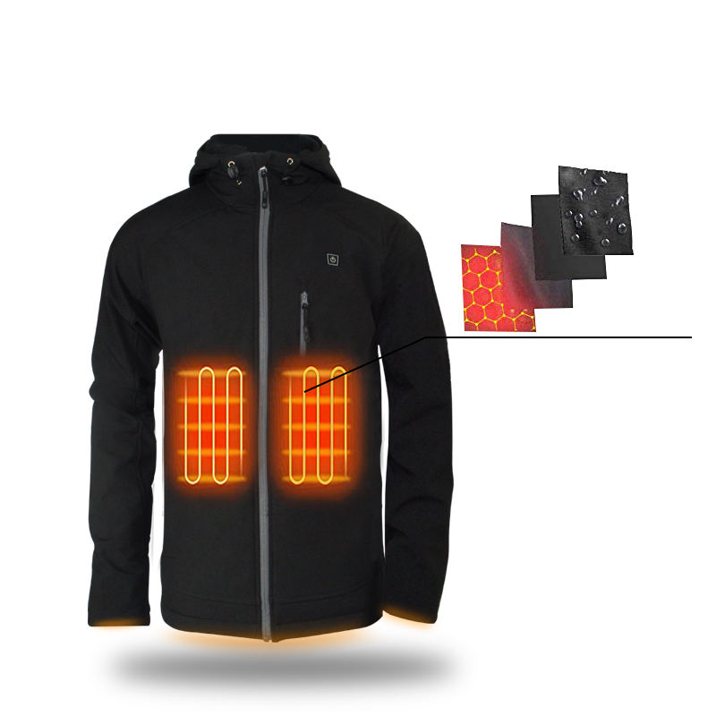 Men's Battery Rechargeable Heated Softshell Jackets