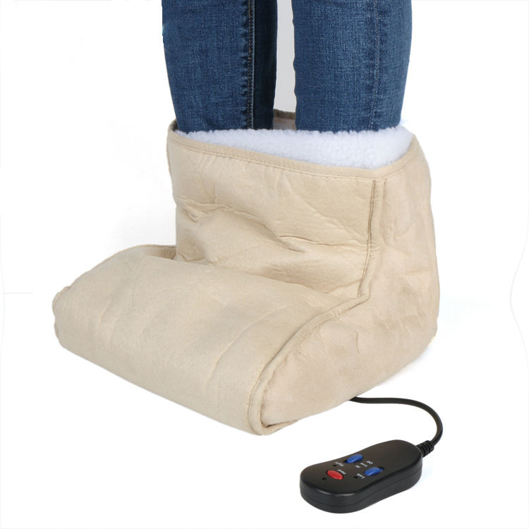 Electric Shiatsu Kneading Roller Massager Foot Warmer Boot with heated