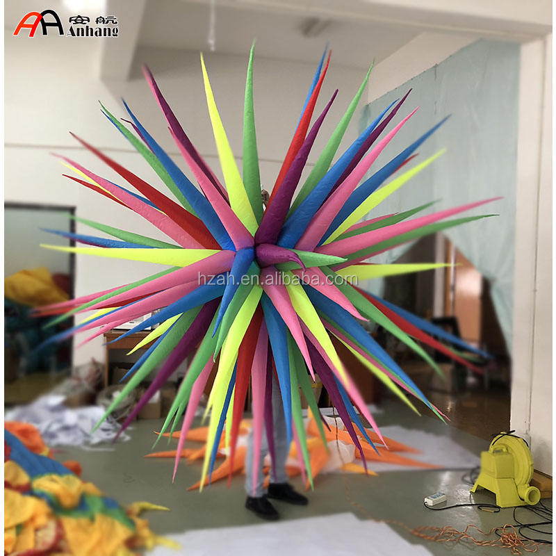 Cheap Colorful Inflatable star decoration with LED