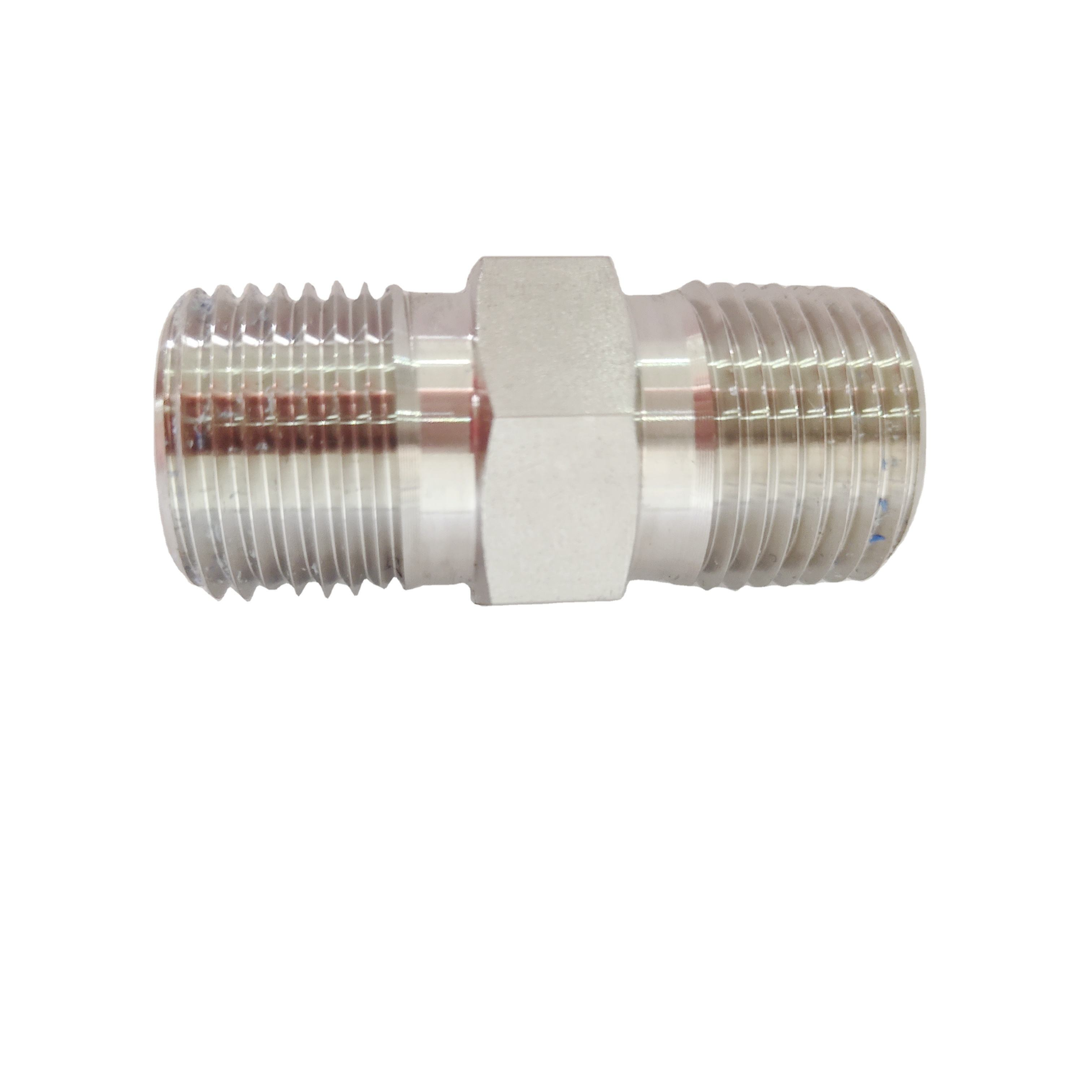 stainless steel NPT hex equal nipple fitting