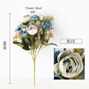 2019 New Design Flower bouquet Accessories Artificial Rose Flower for Wedding Decoration