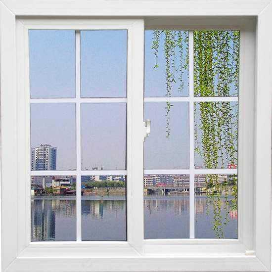 White upvc frame vinyl windows with tempered glass for house balcony