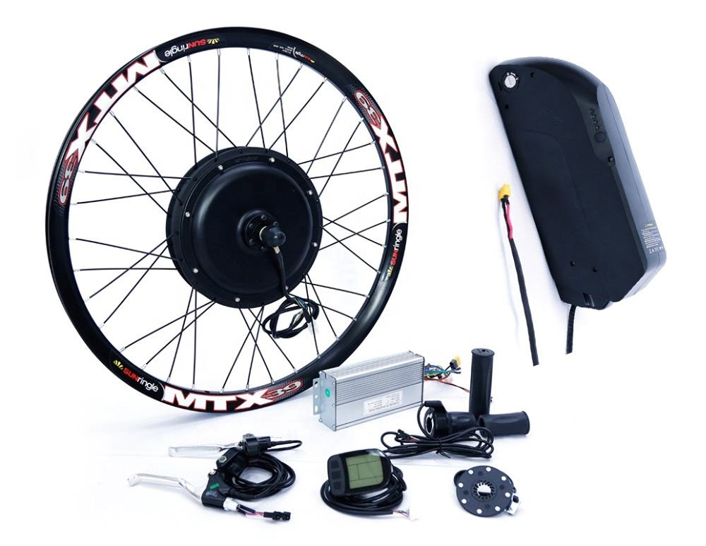"26 ""electric bike ebike conversion kit 2000w com bateria"