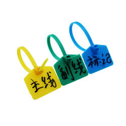 Pull Tight Colorful Security Tags Custom Logo And Number Nylon Mini Plastic Seal