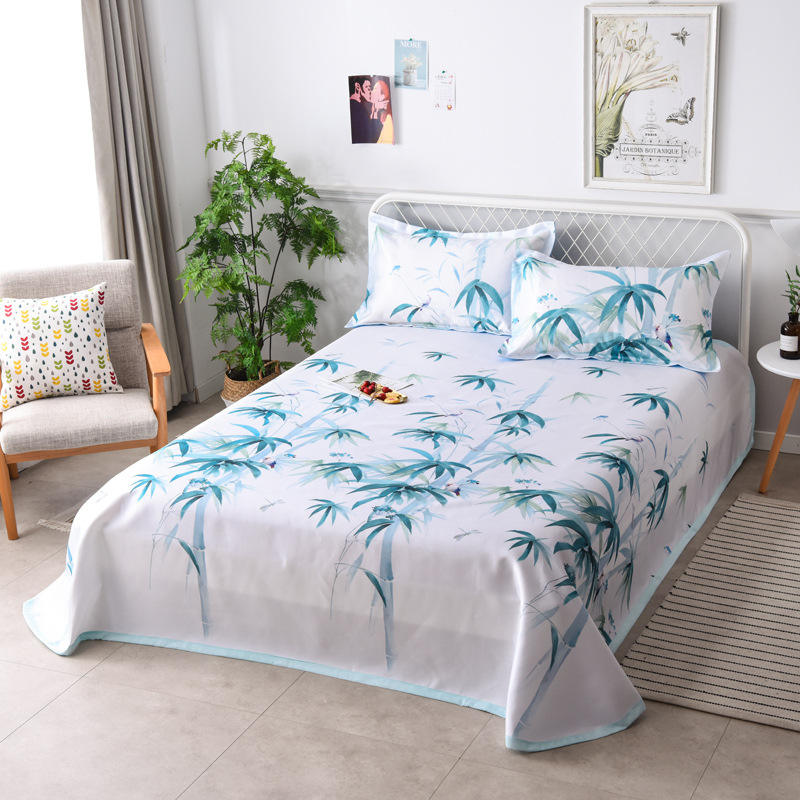 air conditioning bed cover INS hot sale printing bedspread Nordic Style summer bed cover ins print bedding set