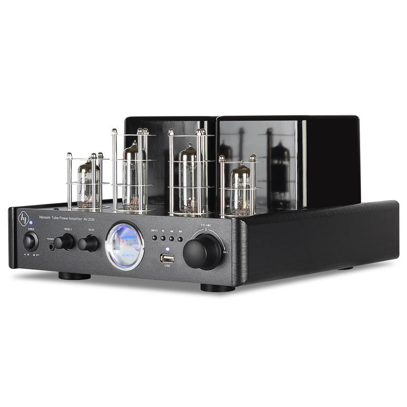 Vacuum 60W Power Aluminium stereo hifi integrated tube amplifier