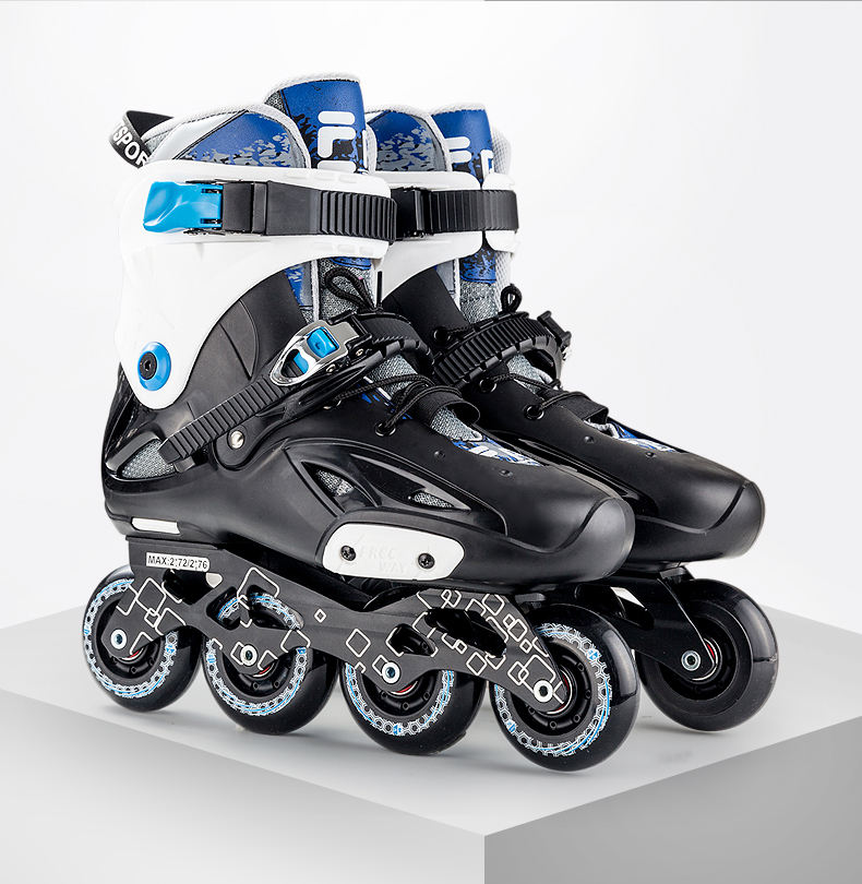 Custom in line rotary adult skates factory direct sales Pu professional roller skates