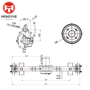Hengyue customized electric bus rear axle for passenger car