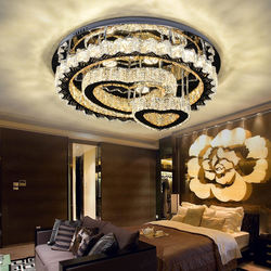 Fashion Smart Indoor Acrylic Crystal Decor Round Modern Led Ceiling Lamp For Living Room
