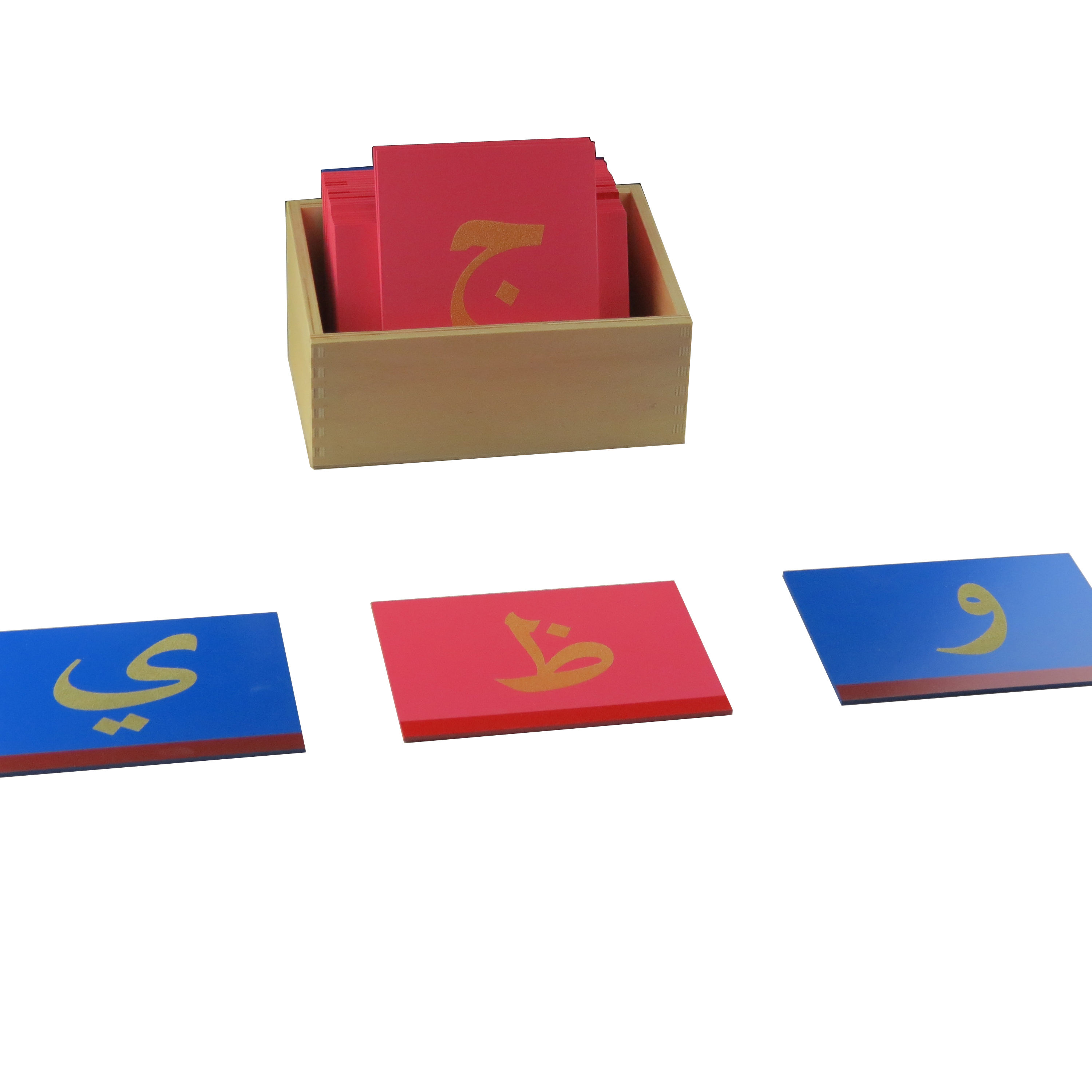 Wooden montessori language educational toys arabic sandpaper letters for children