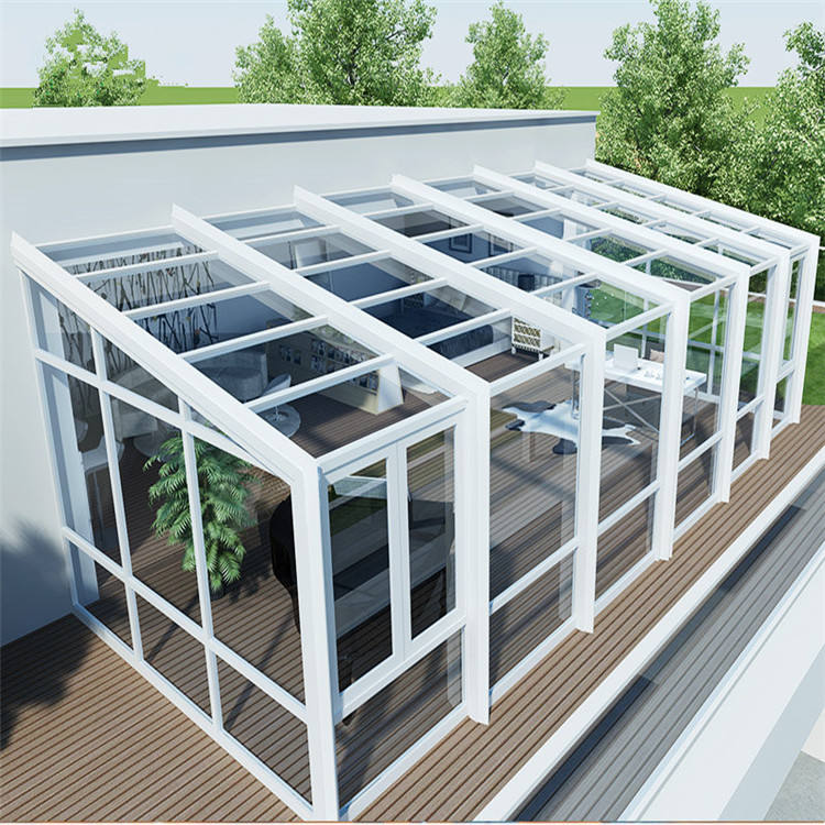 2019 China Factory Winter Garden Sunroom Conservatory Glass Garden House Wholesale Aluminium Glass Sunroom