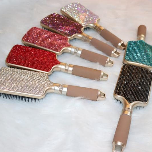 Newest Hot Sale Bling Crystal Rhinestone Hair Brush Private Label