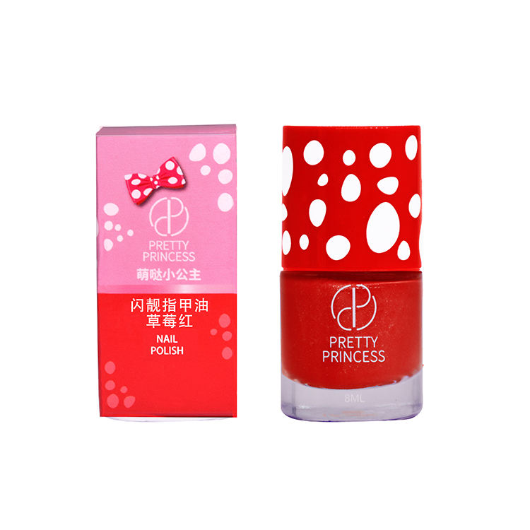 Children Cosmetic Makeup Red Color Peel Off Water Based High Quality Non Toxic Kids Private Label Nail Polish