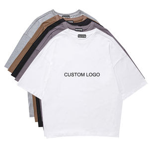 custom cotton plain print blank tshirt oversized mens t shirt