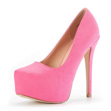 Women's round toe platform high heel