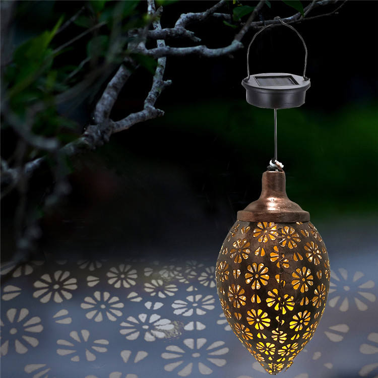 New Arrival Decorative 1.2V Warm White Light Color Hanging Outdoor Solar Garden Lantern