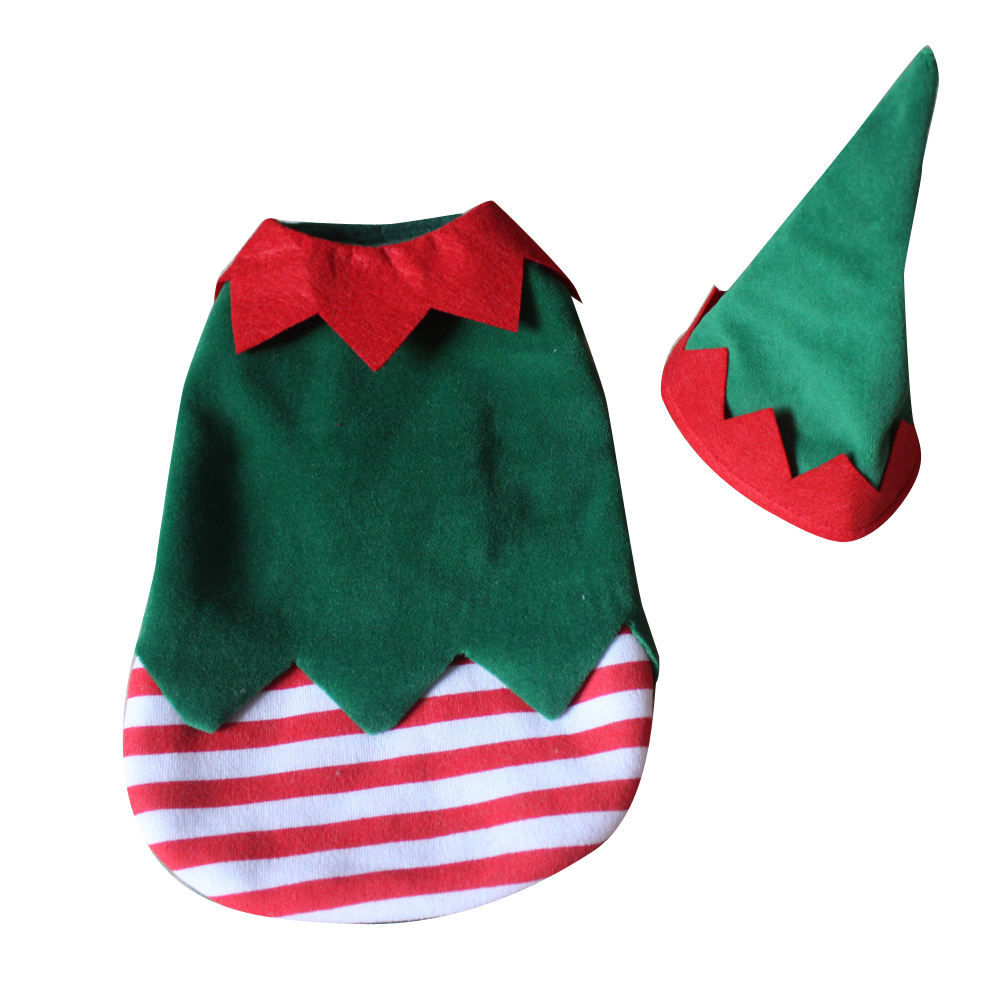 Pet supplies New fashion pet apparel Christmas tree dog warm wear Christmas celebration dog clothes with hat