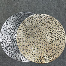 38CM Round PVC Placemat Kitchen Dining Table Mats Steak Pad Anti-scalding Insulation Pads INS Nordic Hotel Restaurant Home Decor