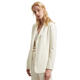Fashion style business suit 100% silk long sleeve v neck white jacket women suits blazers