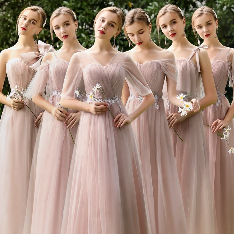 LSQW001 Lace Wedding Bridesmaid Latest Beach New Feeling Bridesmaids Dresses