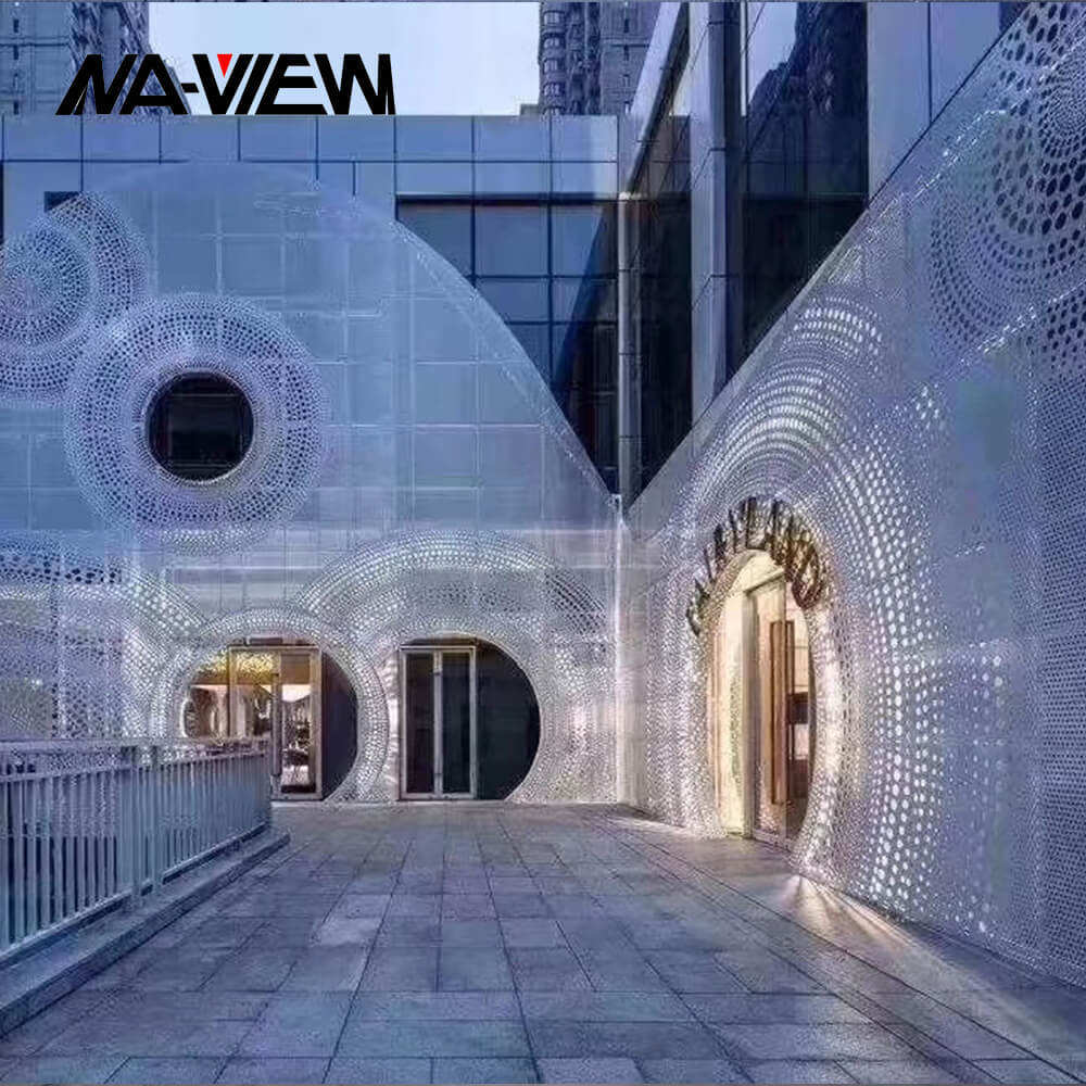 2.5/3/4/5mm Decorative Perforated Metal Panel External Aluminium Wall Cladding
