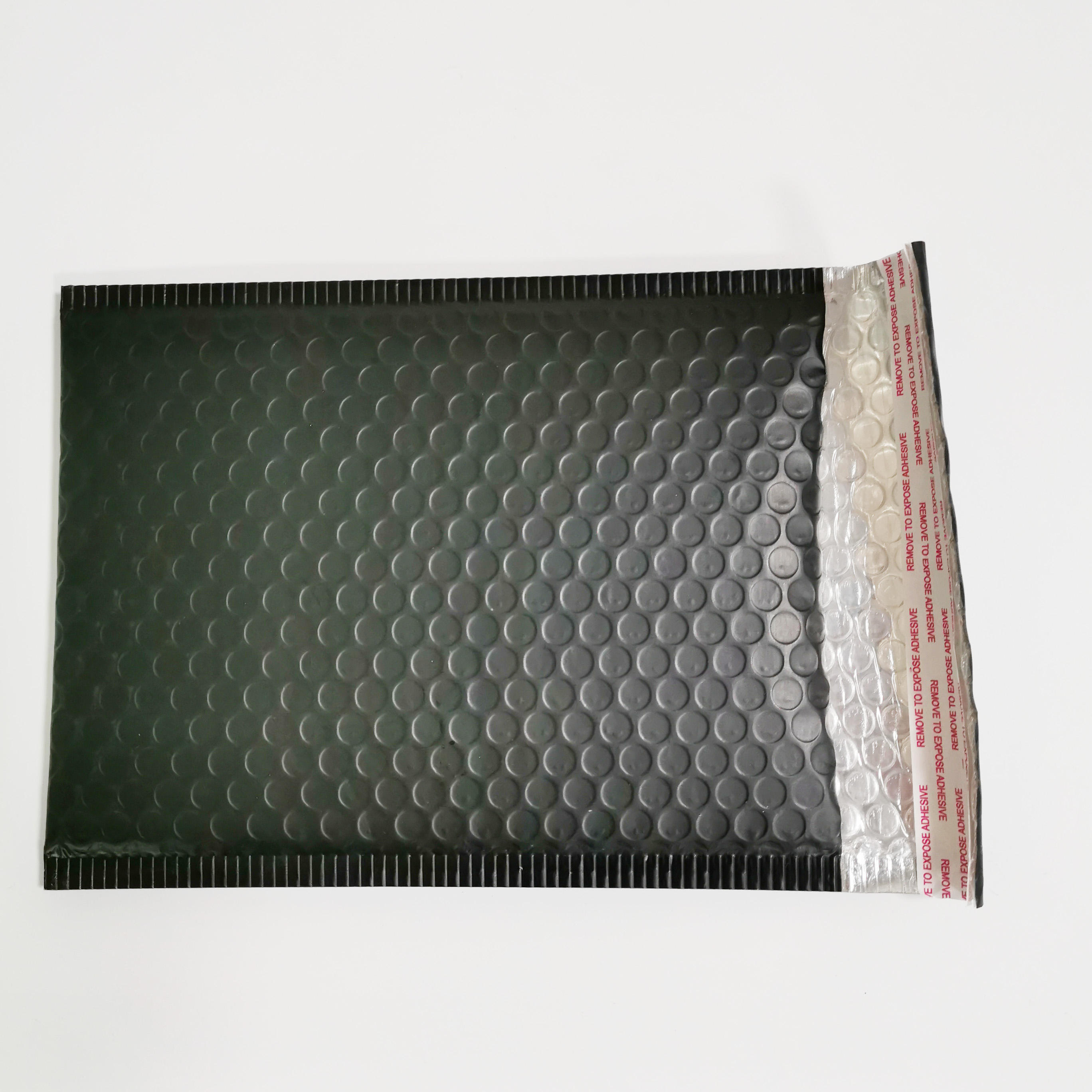 Different size in stock for matt black bubble mailer bubble bags