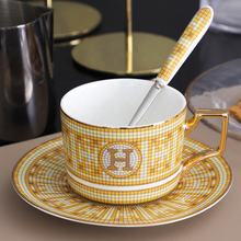 Restaurant luxury bone china coffee cup with saucer ceramic gold tea cup sets