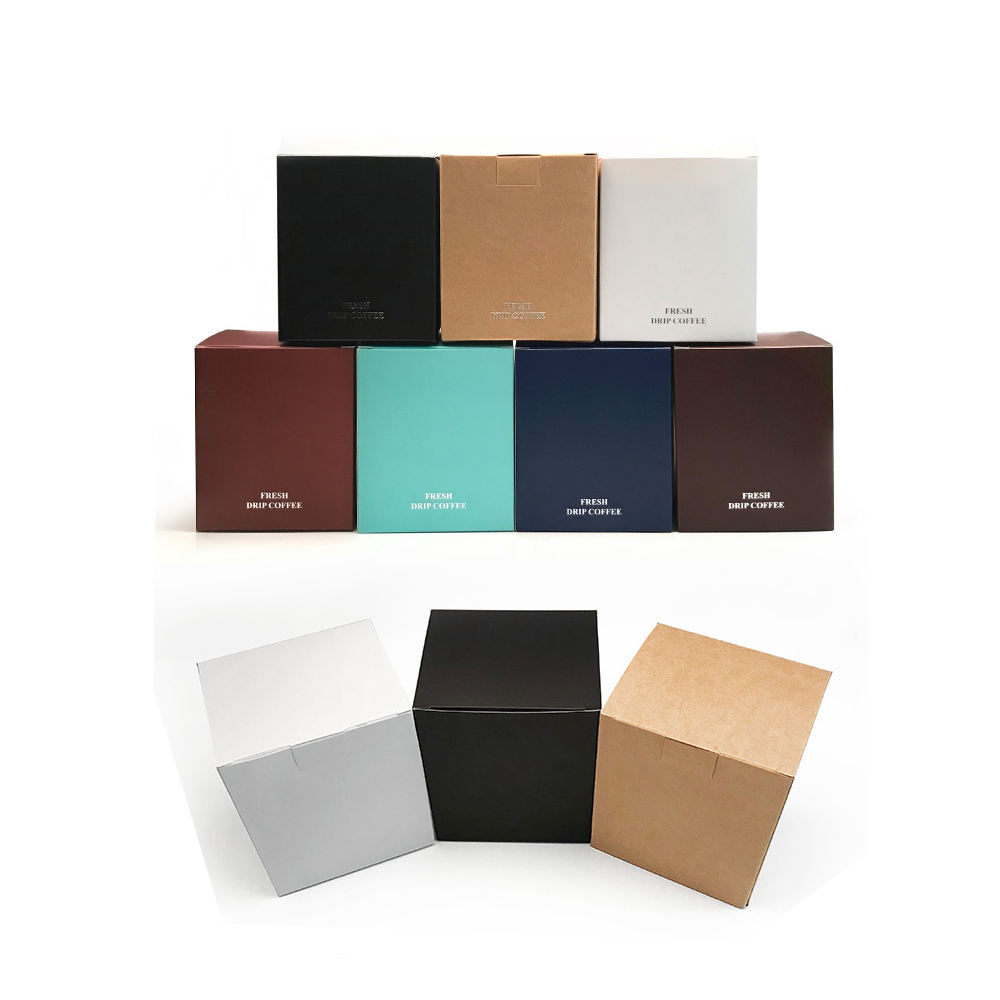 Custom Paper Coated Square Shape Full Color Paper Tea Packaging Boxes