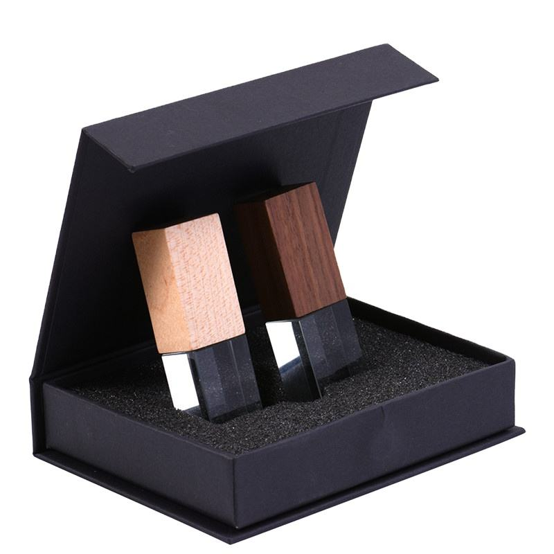 Wedding Photography USB Flash Drive With Custom LOGO Wooden Crystal + Wooden box USB 3.0 Version