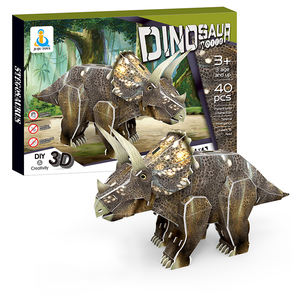 Customize Dinosaur Jigsaw Diy Educational Toy 3d Model Plastic Puzzle