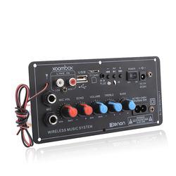 Subwoofer Digital Bluetooth Amplifier Board Dual Microphone Karaoke Amplifier Reverb 12V 24V 220V For 8-12 Inch Speaker